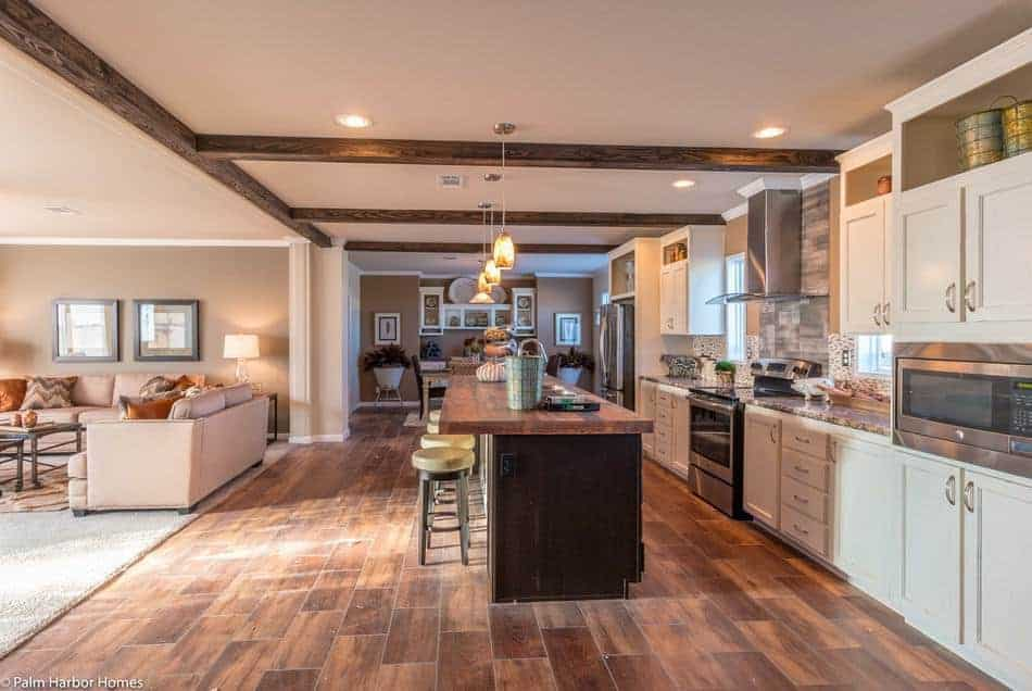 The sonora ii manufactured home palm harbor homes kitchen bar side new mobile home design