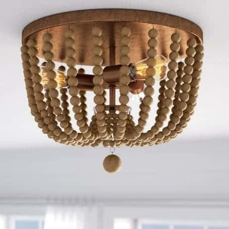 tilden wood bead ceiling light