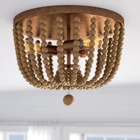 Tilden wood bead ceiling light