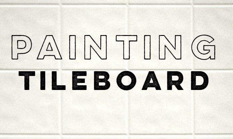 Cheap Backsplash Ideas: Painting Tileboard 2
