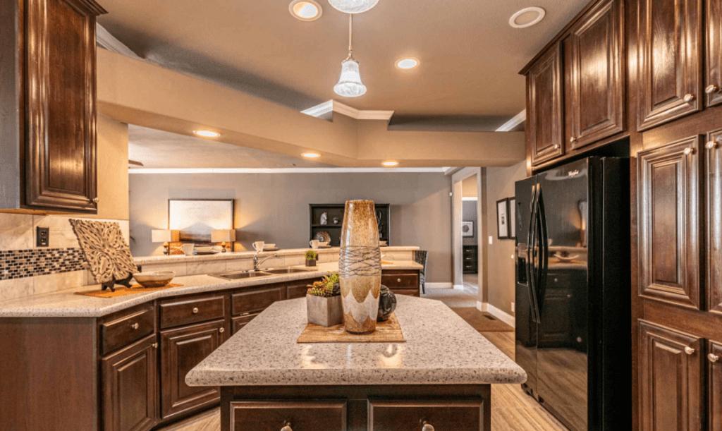 Timber ridge elite curved kitchen