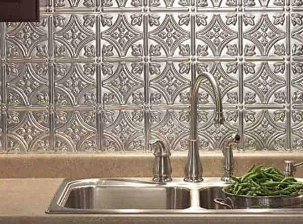 Tin backsplash mobile home decorating tips