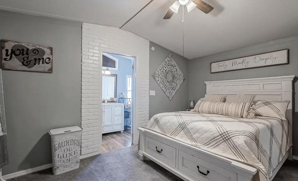 Tiny farmhouse bedroom
