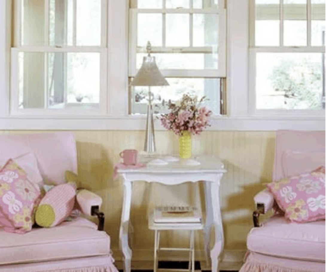 Traditional cottage decor in bhg trailer makeover