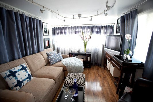 Trailer Chic Remodel Living Room