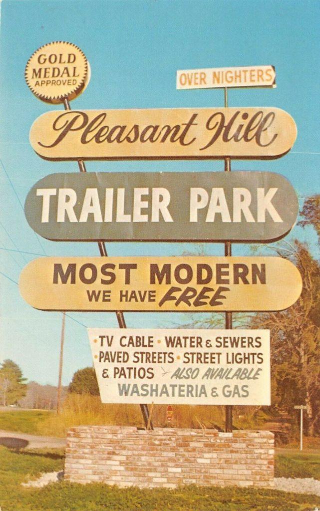 Trailer park sign ebay