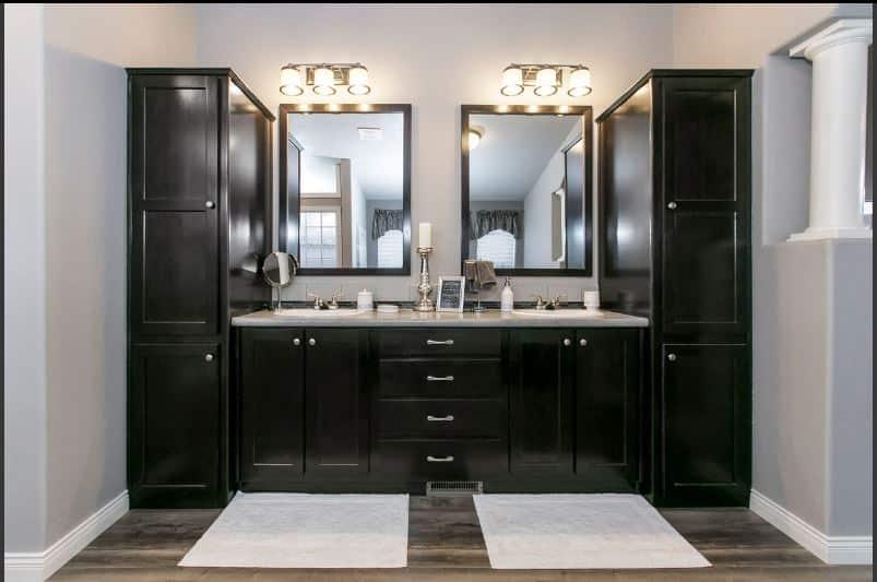 Triple wide bathroom vanity