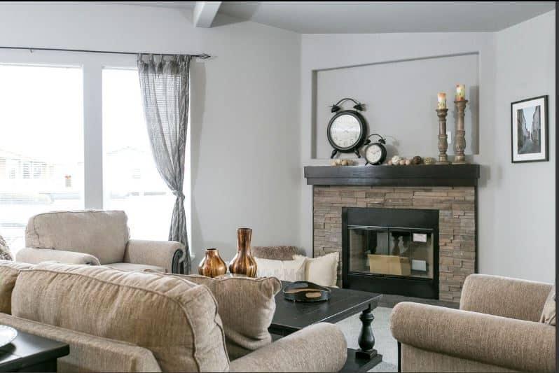 Triple wide fireplace