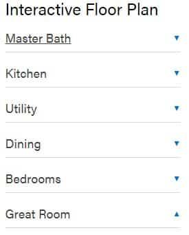 Triple wide interactive floor plan options