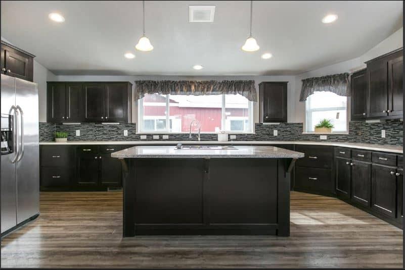 Triple wide kitchen island