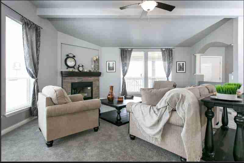 Triple wide living room