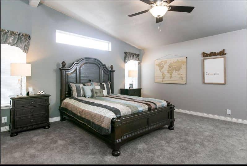 Triple wide master bedroom