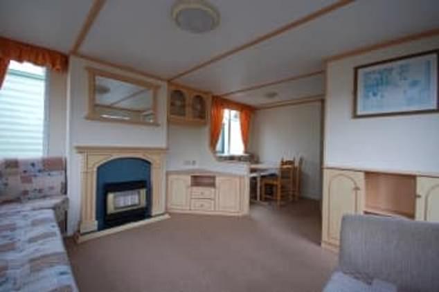 Uk Caravan Living Room Before
