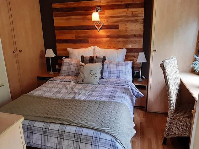Uk Caravan Master Bedroom After