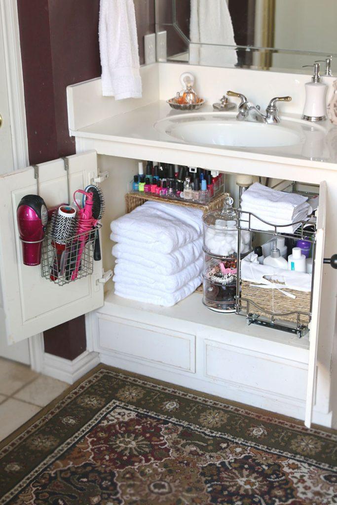 Under sink shelf