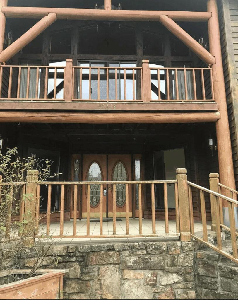 Unusual manufactured homes log home entrances