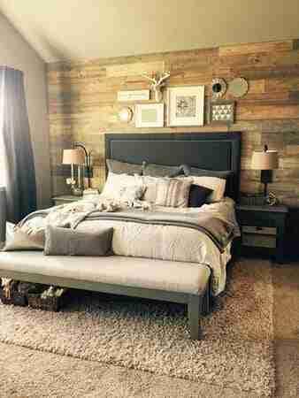 update your mobile home bedroom-shiplap walls