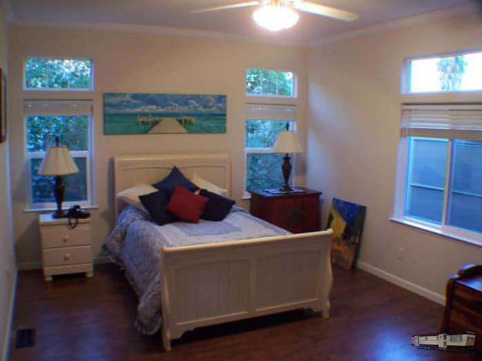 Updated and remodeled double wide manufactured home for sale bedroom