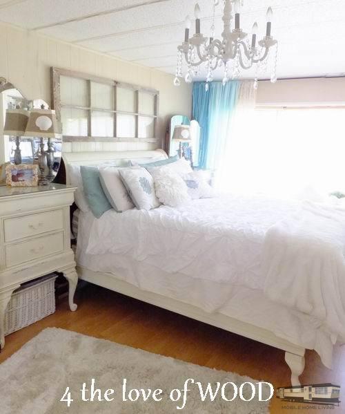 Use Old Window As Headboard Update Your Mobile Home Bedroom Jpg