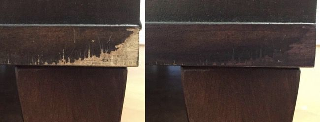 Use-touch-up-kit-for-mobile-home-cabinets-before-and-after