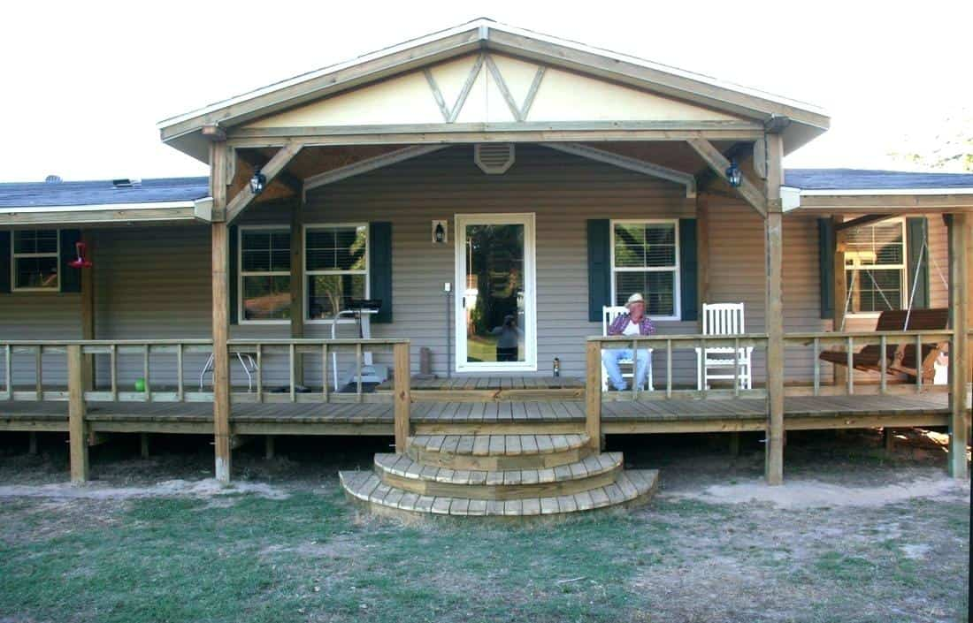 100 Great Manufactured Home Porch Designs + How To Build ... on side decks for mobile homes, enclosed mobile home porch steps, prefabricated decks for mobile homes, small decks for mobile homes, portable decks for mobile homes, pool decks for mobile homes, wood decks for mobile homes,