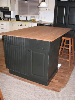 Using free cabinets to create a kitchen island