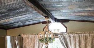 Using Weathered Tin To Replace A Mobile Home Ceiling 1 1 1 E 1561831483779