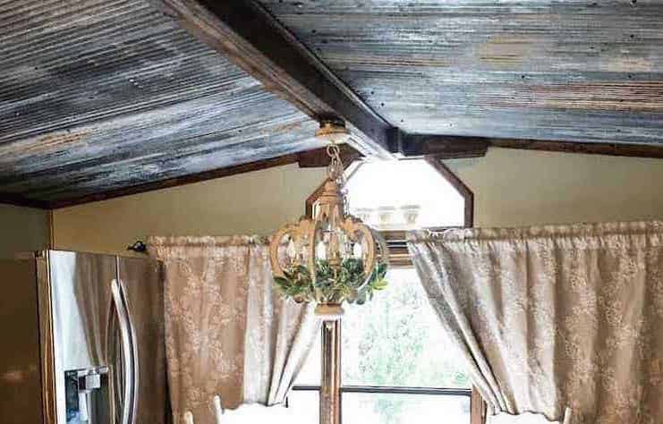 Using Weathered Tin To Replace A Mobile Home Ceiling 1 1 1