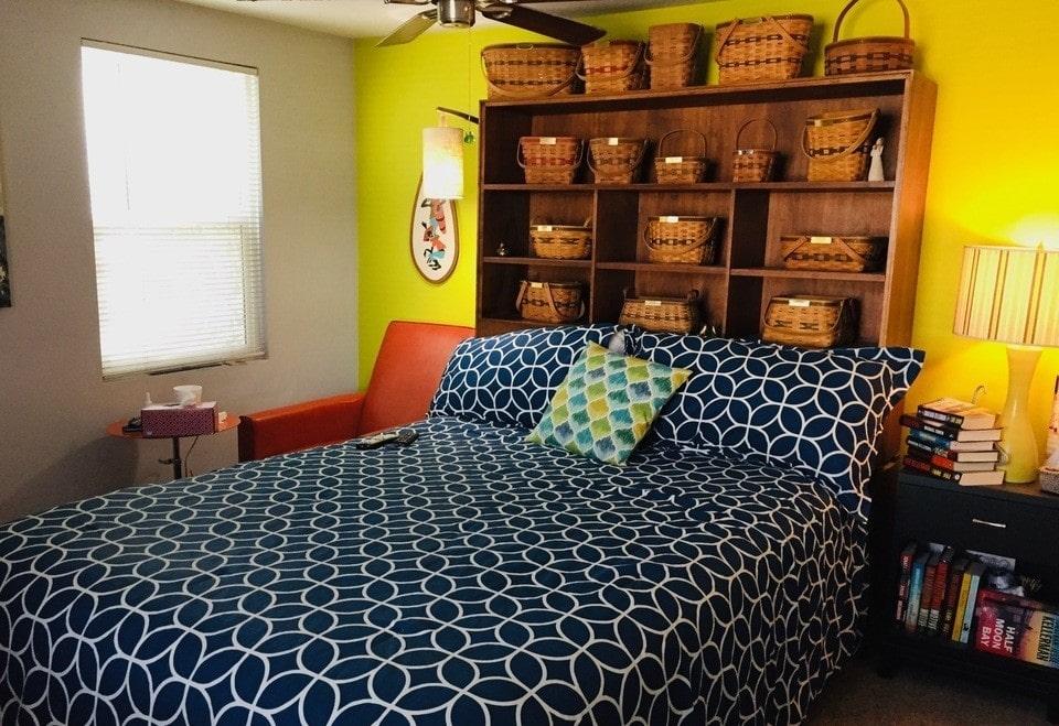 Vintage mobile home bedroom 2