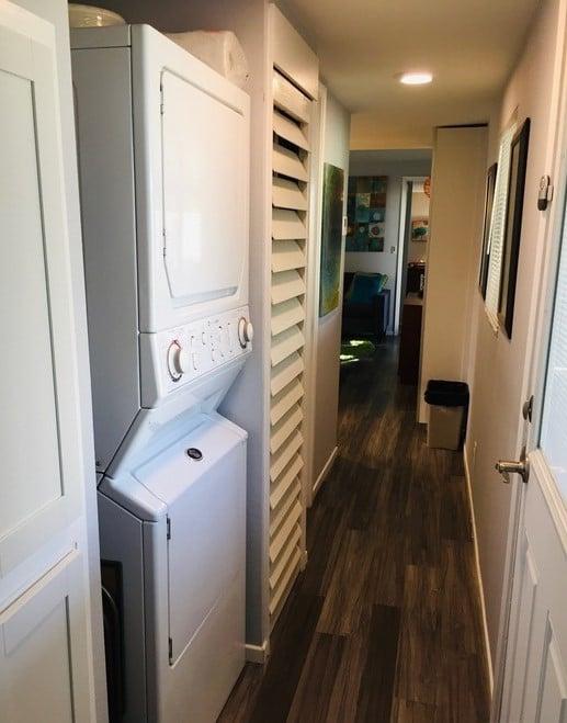 Vintage mobile home hallway