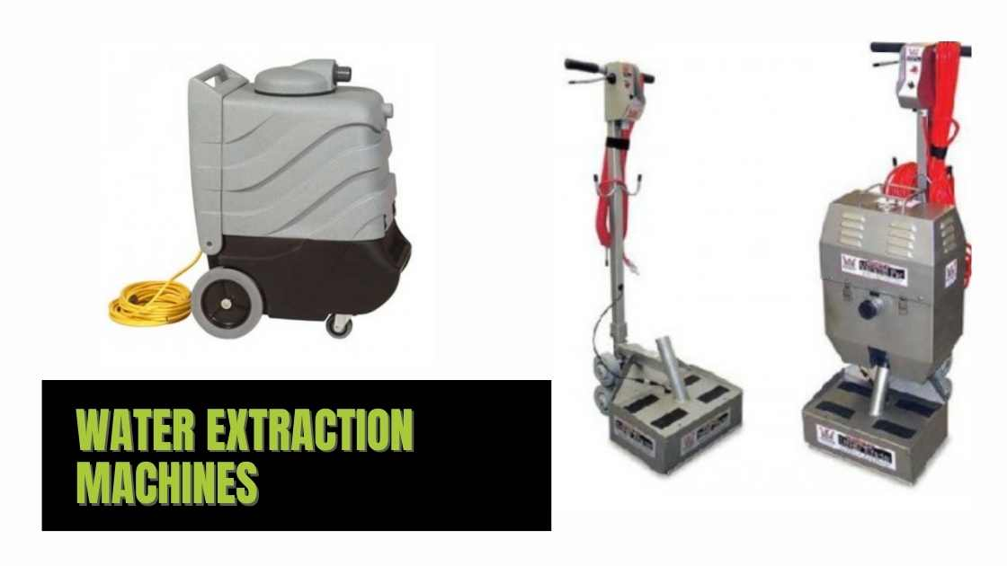 Water extraction machines