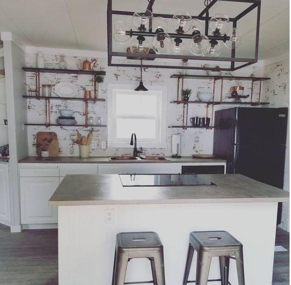 White copper kitchen