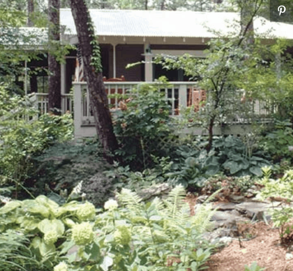 wild landscaping for BHG single wide lakehouse makeover