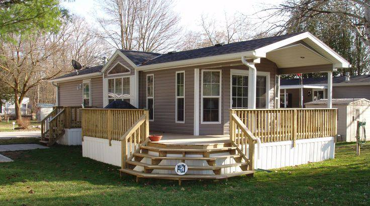 24 single wide manufactured home porch design - Mobile Home Designs