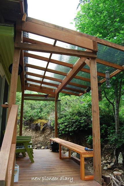 Manufactured home porch designs-26. Covered deck on mobile home