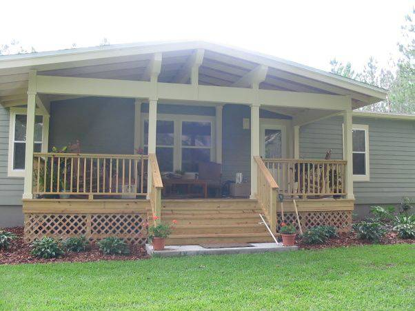 45 great manufactured home porch designs - Mobile home deck designs ...