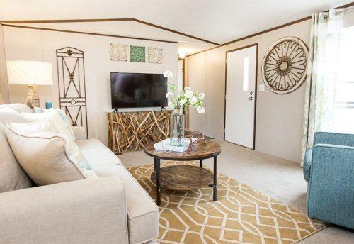 3 levels of manufactured homes - living room of Tru model single wide