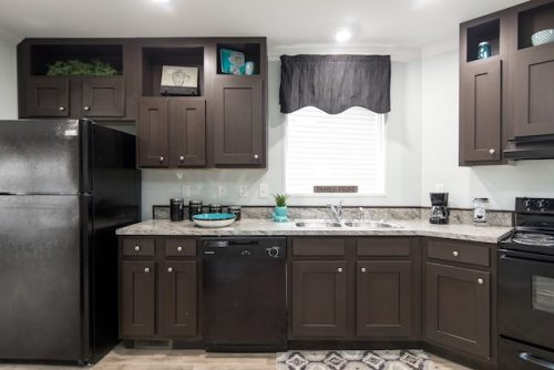 3 levels of manufactured homes - Norris CEO model is a high end example - kitchen