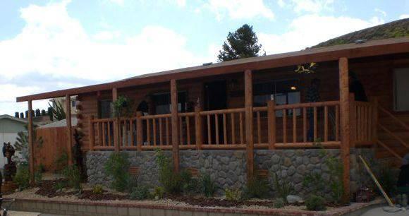 manufactured home porch designs-33 log cabin porch design on manufactured home