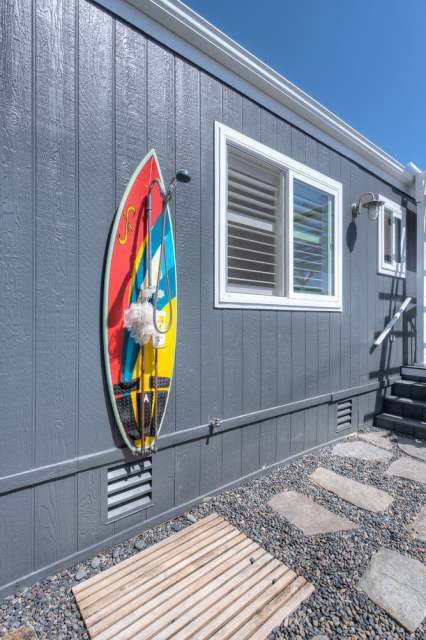 1988 Skyline Double Wide - Complete remodel - Manufactured Home Interior Design - Front of Exterior After