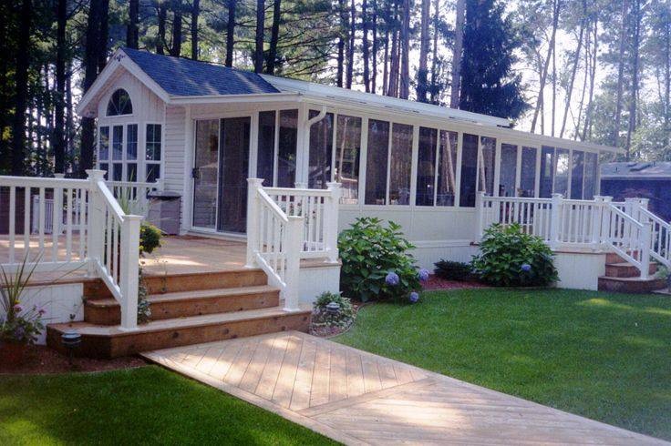 Elegant 35 Single Wide Manufactured Home Deck Design Idea