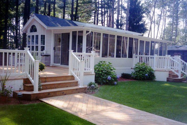 manufactured home porch designs-35 single wide manufactured home deck design idea