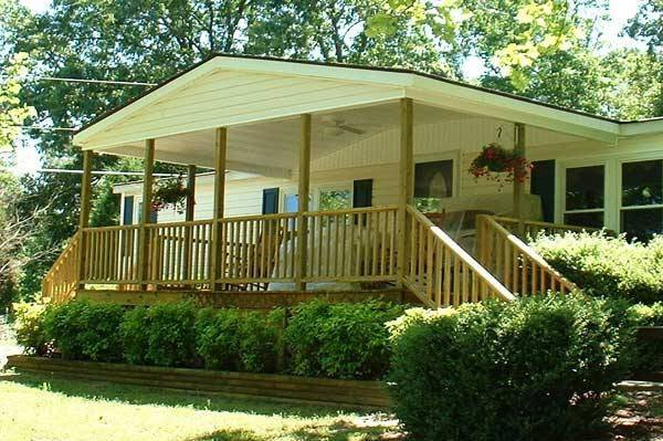37 Covered porch design on manufactured home
