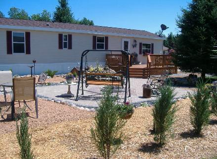 manufactured home porch designs-39 single-wide-decking-ideas