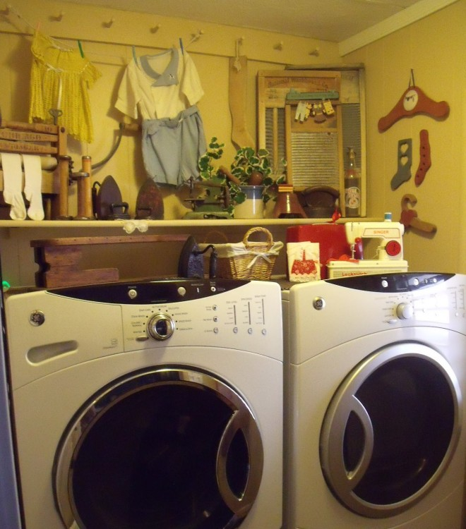 mobile home laundry room decor ideas
