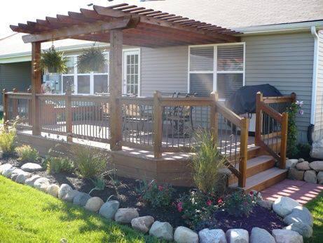 manufactured home porch designs-42 manufactured home pergola deck design