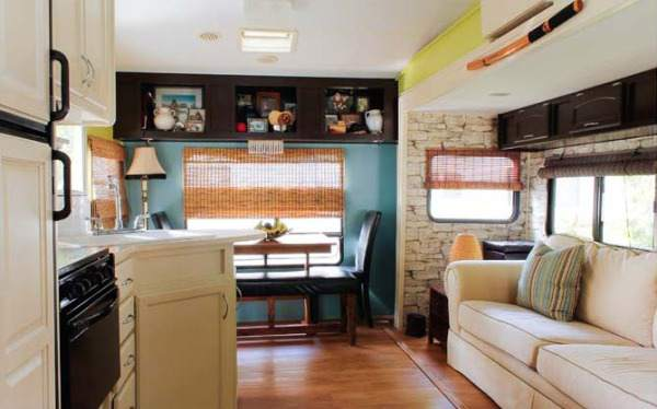 Camper Decorating Ideas: Laurau0027s 5th Wheel Makeover  5th Wheel Camper Before