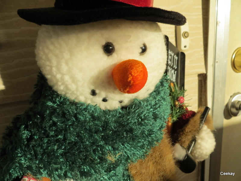 Manufactured Home Holiday Decor Ideas - Snowman
