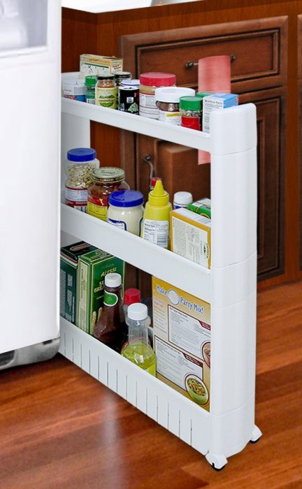 sliding storage rack for kitchens - smart storage solutions for small homes