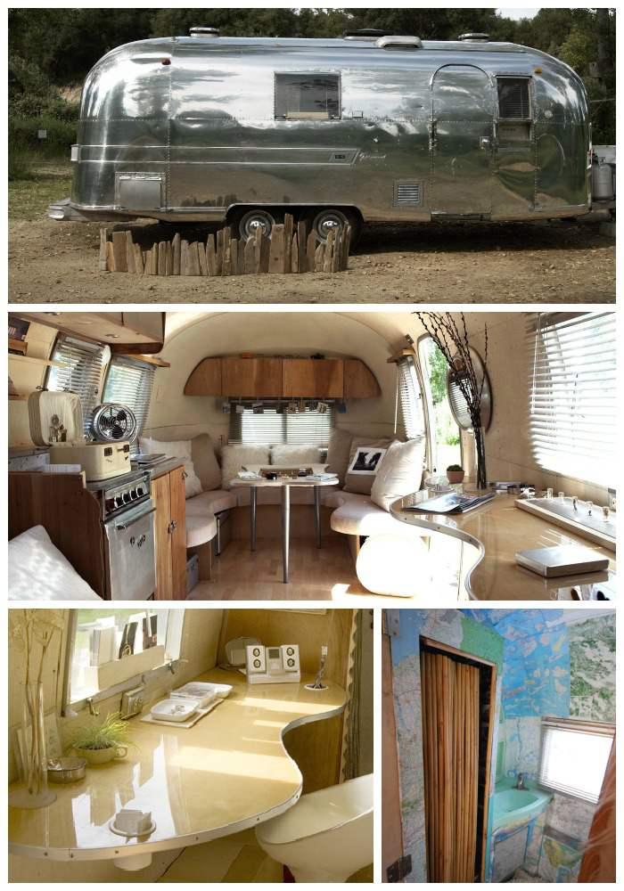 Camper Design Ideas were in love with this travel trailers retro chic interior decorating ideas 8 Airstream Interior Decor Ideas